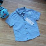 Новая фирменная рубашка F&F малышу 1,5-2 года
