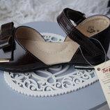 Туфли босоножки кожаные для девочки новые нарядные Тм Берегиня 26,27,28,29,30,31