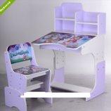 Детская парта - растишка Bambi W 3071-7-3 Enchantimals фиолетовая