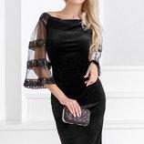 Неотразимое бархатное платье