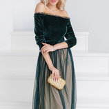Пышное ретро-платье