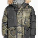 Куртка с камуфляжным узором и контрастной отделкой 3 мес.-6 лет