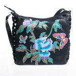 Сногсшибательная женская сумка из натуральной кожи с ручной росписью