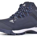 Кроссовки мужские зимние Adidas ClimaProof синие на меху