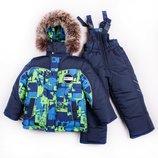 Зимний комбинезон для мальчика раздельный куртка полукомбинезон