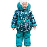 Зимний комбинезон для девочки раздельный куртка полукомбинезон