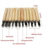 Инструменты для резьбы по дереву набор 12 шт. обработки скульптуры