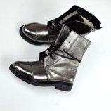 Зимние ботиночки на шнуровке в стиле HeRmes, Натуральная кожа