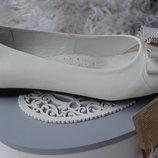 Туфли нарядные ортопедические кожаные для девочки новые белые, 38,39 р.