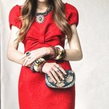 Yumi Celine Red Party Dress