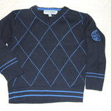 свитер синий хб 2 - 3 года кофта мальчику