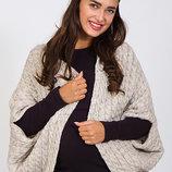 Кофта-Шаль для беременных бежевая