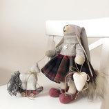 Подарок на новый год Рождество игрушка зайка тильда лошадка
