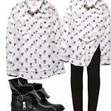 Красивая полупрозрачная рубашка с принятом в сердечко Бренд LTB Jeans