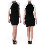 204bda11033d851 Tommy Hilfiger платье-cвитер воротник гольф b&w c короткими рукавами  реглан, размер м