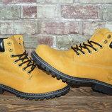 Мужские зимние ботинки Timberland, рыжие кожа