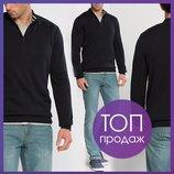 Мужской свитер насыщенно-черного цвета LC Waikiki с молнией на груди