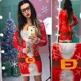 Платье с Новогодним принтом