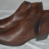 Ботинки 39-40 р Tamaris Германия кожа оригинал демисезон