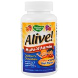 iHerb. Витамины Alive 120 шт. Жевательные мультивитамины детские, для детей.