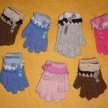 Перчатки детские ангора 4-8 лет закрытие магазина