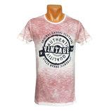 Мужская розовая футболка Vintage - 2411