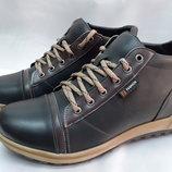 Распродажа Стильные мужские зимние ботинки чёрные Madoks