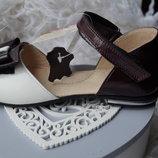Туфли кожаные для девочки, новые, нарядные, Берегиня, 26,27,28,29,30,31