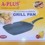 Сковорода для гриля A-Plus диаметр 24 см, с антипригарным покрытием Grill Pan