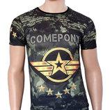 Мужская военная футболка - 2687