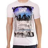 Молодежная белая футболка Your Life - 2503