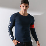Модный мужской лонгслив SuperBody - 2763