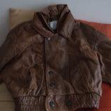 Супер Стильная Курточка Натуральная Кожа Италия