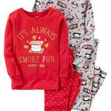 Комплект детских пижам для мальчика Carters зефирка