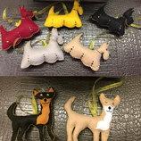 Собачки из фетра терьеры, чихуахуа,hand made