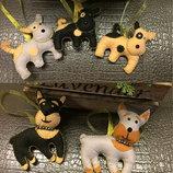 Сувениры- собаки из фетра,ручная работа.