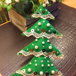 Елка,новогодний декор из фетра 18 см