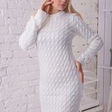 Женское вязаное платье, разные цвета.