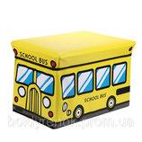 Чудо ящик-корзина для игрушек, пуфик -детский, Автобус