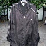 Костюм спортивный Adidas,р.3XL 54-56 , цвет-чёрный,б/у