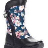 Ботинки на девочку H608-2 Paliament синий, размеры 27, 28. 29, 30. 31, 32 Зимние ботинки для девоч