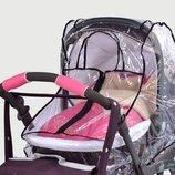 Новый дождевик универсальный с окошком на липучке на коляску
