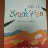 Брашпен линер 2в1 BrushPen Brush кисть кисточка маркер ручка каллиграфия рисование творчество брошпе
