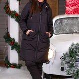 Женские зимние теплые куртки женская зимняя куртка длинная пальто зимнее длинное плащевка верхняя