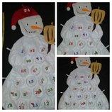 Интерьерный снеговик органайзер календарь.