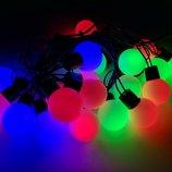 Гирлянда шарики, разноцветные led-лампочки 20 шаров 5 м мульти