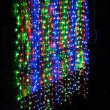 Светодиодная гирлянда Водопад 3х3 м. 480 LED белая, желтая, синий, мульти