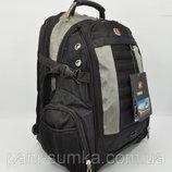 Рюкзак городской SwissGear 1419 черный с серым, выход для USB, наушников