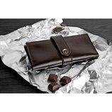 Портмоне женское кожаное Шоколад Идеальный подарок