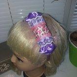 Обруч конфетка фиолет.с розочками